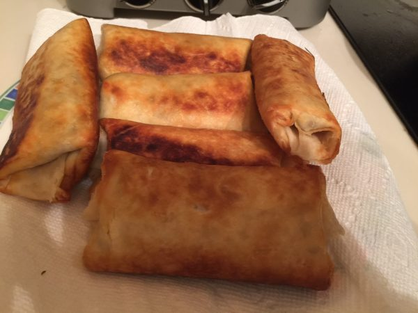 Easy Ground Beef Chimichangas