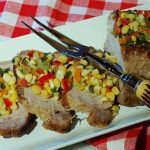 Marinated Pork Loin with Grilled Corn Salsa