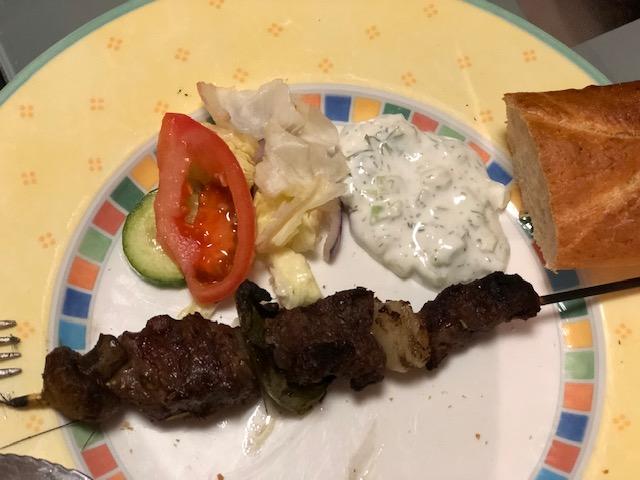 Greek Night & Beef Souvlaki Recipe