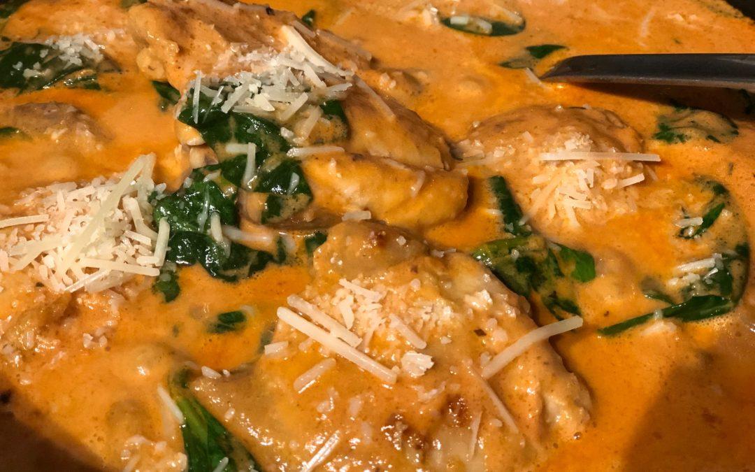 Chicken & Spinach in Creamy Tomato Basil Sauce