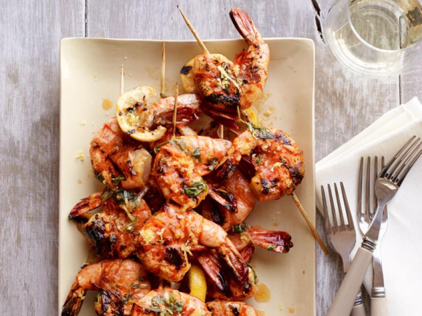 Spicy Lemon Shrimp Skewers
