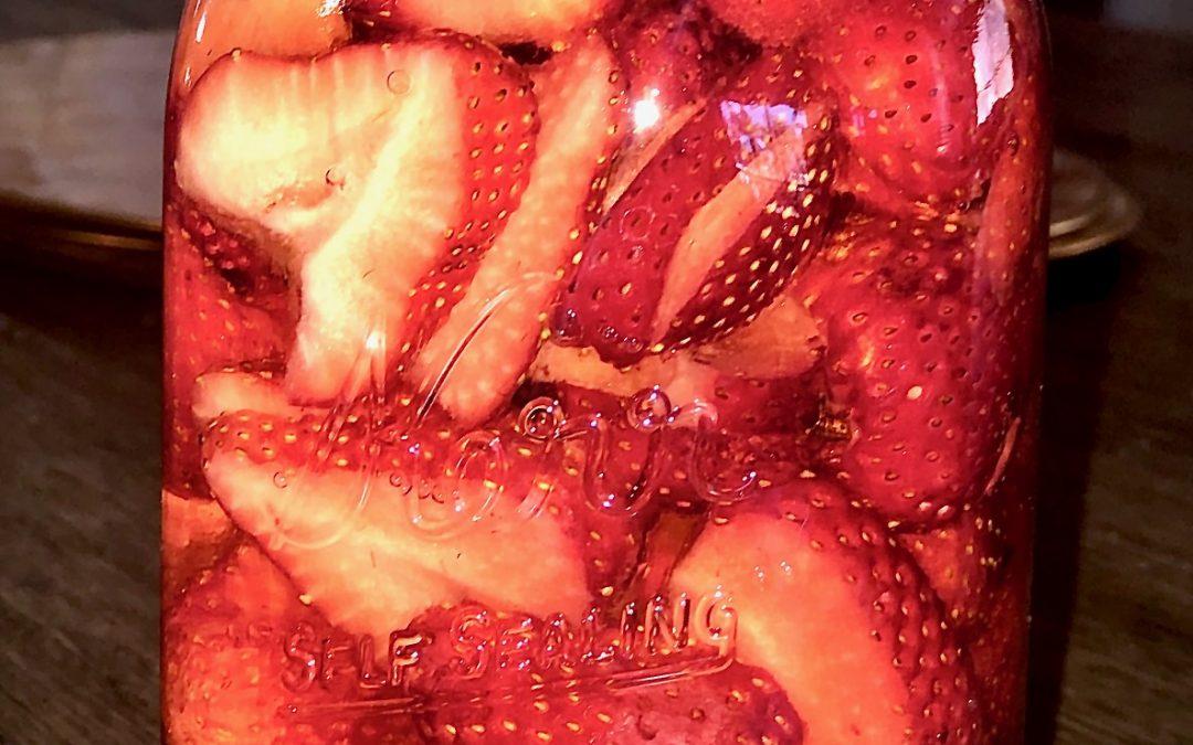 Riesling Wine Marinated Strawberries