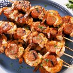 Cajun Butter Shrimp & Sausage Skewers
