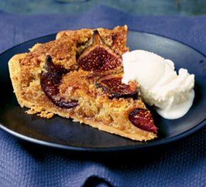 Honey roasted fig & almond tart