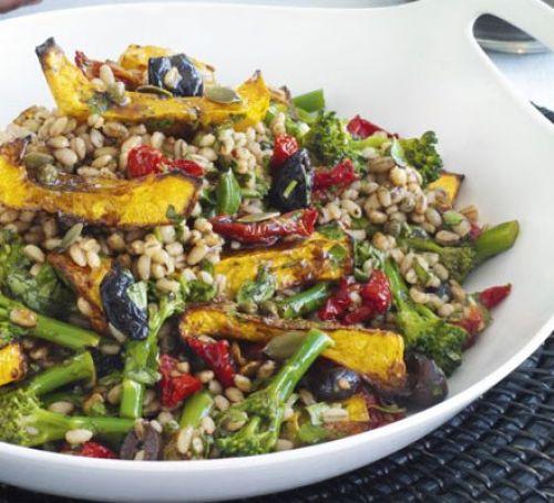 Squash & barley salad with balsamic vinaigrette