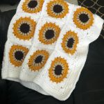 Sunflower Granny Square Blanket - Free Pattern