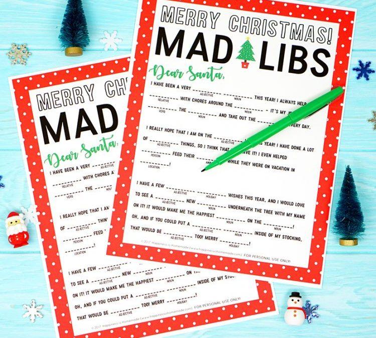 Christmas Mad Libs Printable