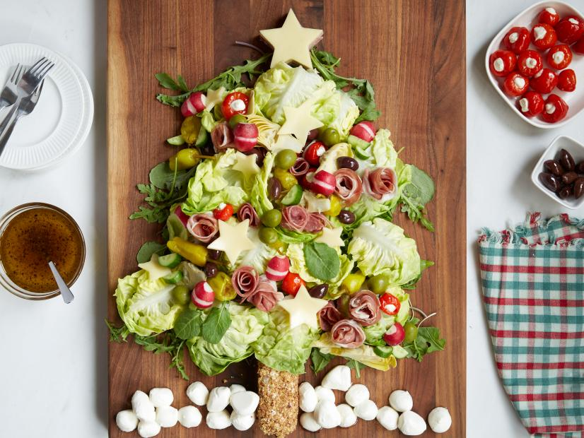 Christmas Tree Antipasto Salad
