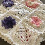 Flower Granny Square Lap Blanket