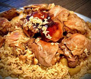 Maqluba an Upside Down Arabic Dish