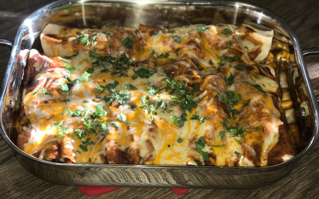 Left Over Turkey Enchilada Bake
