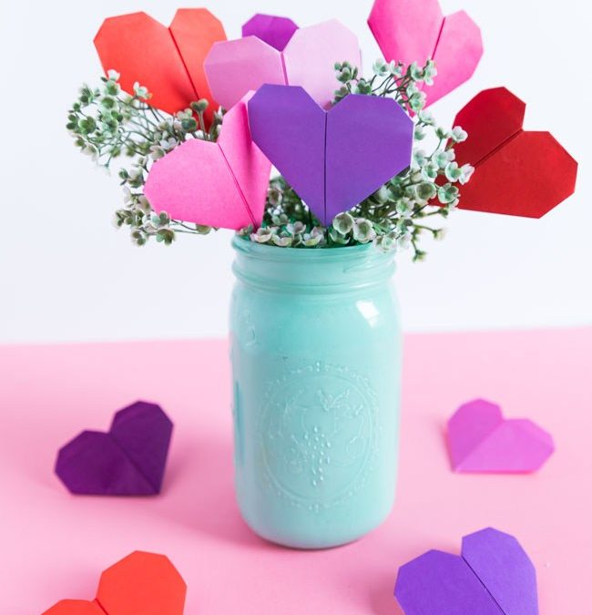 How To Make a Paper Origami Heart Bouquet