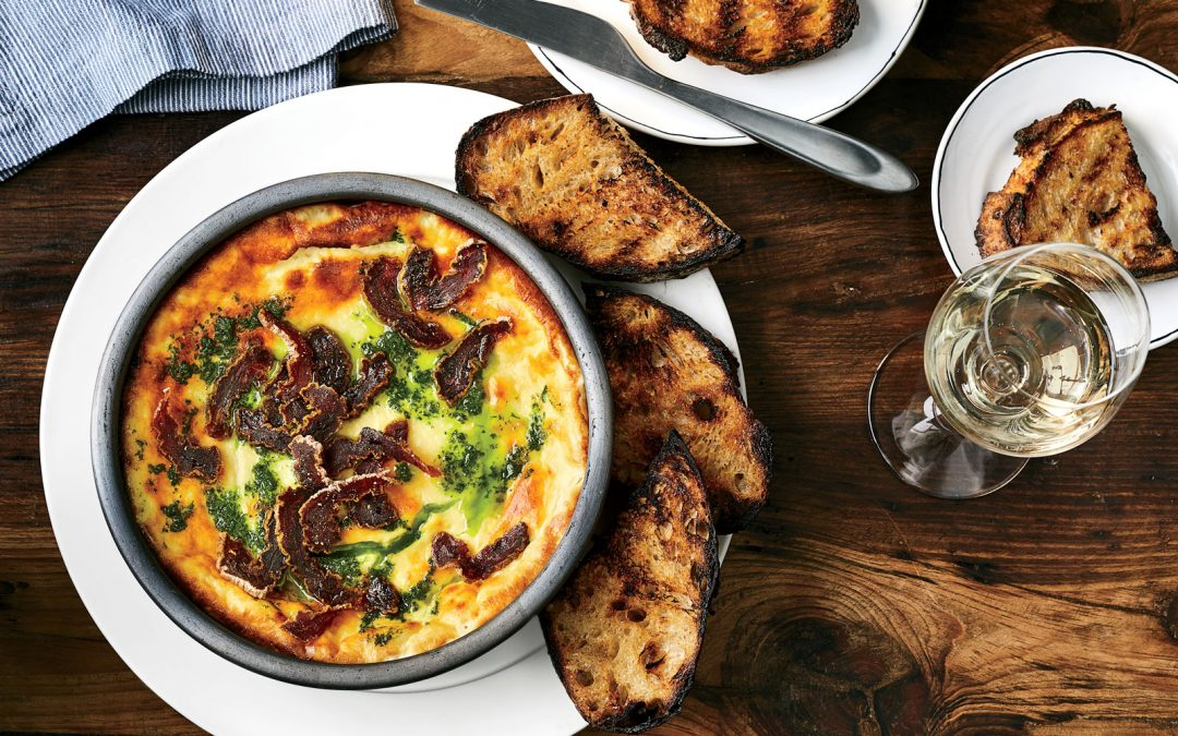 Baked Sheep's Milk Ricotta with Dried Persimmons