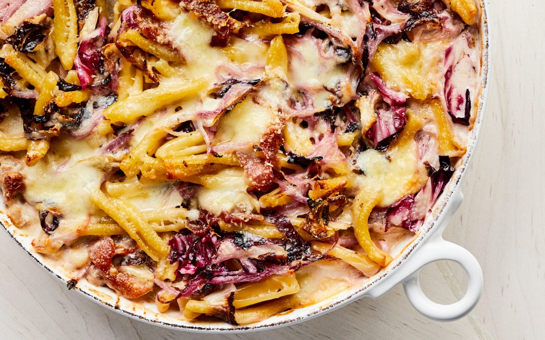Cheesy Baked Pasta with Radicchio