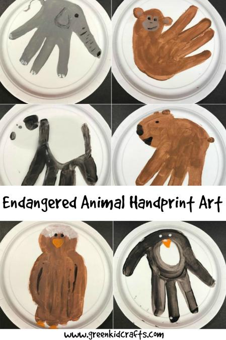 Endangered Animal Handprint Craft