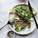 Pounded Beef Tenderloin with Hearts of Palm Salad