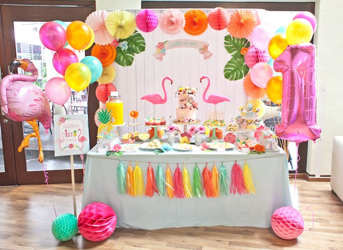 Spring Flamingo Birthday Party