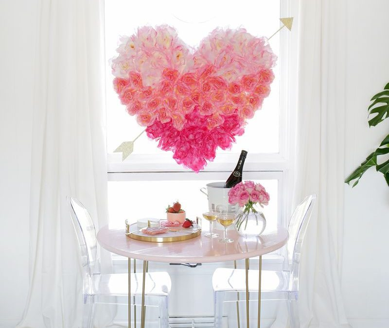 Hanging Flower Heart DIY