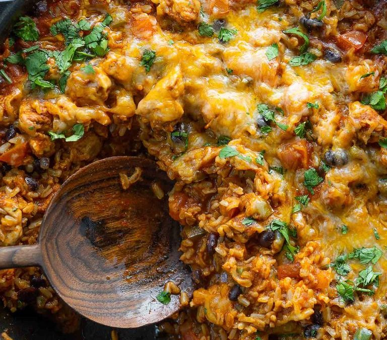 One Skillet Taco Chicken & Rice