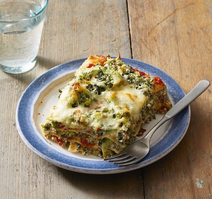 Vegetarian Lasagna With Spinach and Broccoli