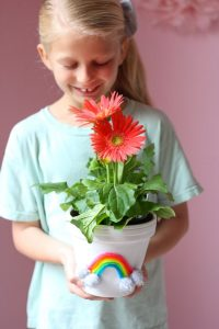 Pipe Cleaner Flower Pot Craft