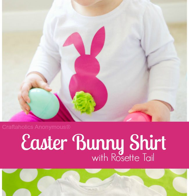 DIY Easter Bunny Shirt with Rosette Tail