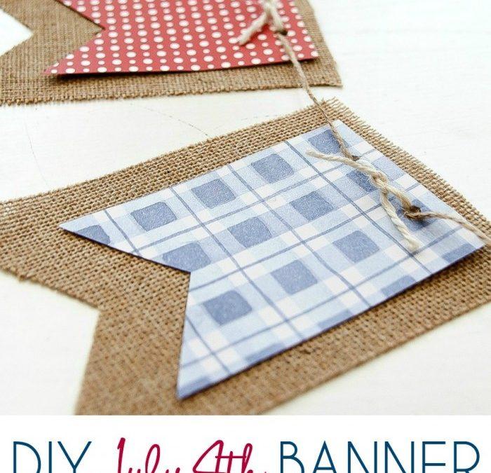 DIY July 4th Banner