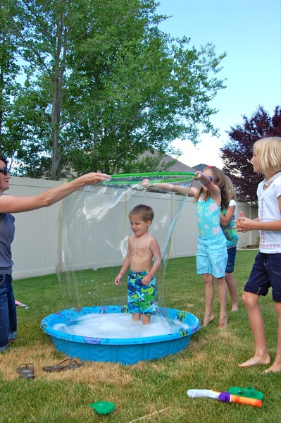 Giant Kiddie Pool Bubbles