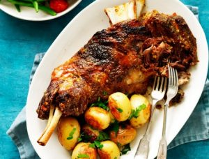 Slow-Roasted Lamb Shoulder with Lemon, Garlic and Rosemary