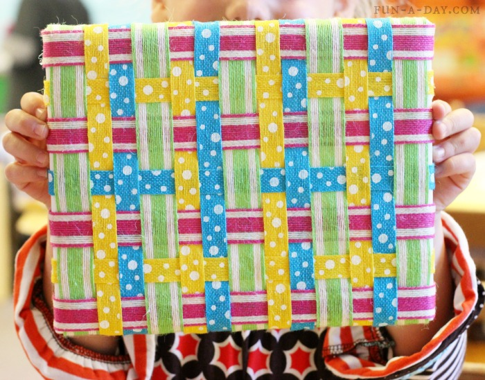 Ribbon Weaving Art With Kids