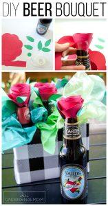 Beer Bouquet Tutorial – Beer Gift Idea for Men!