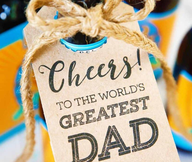 Father's Day Printable Bottle Tags