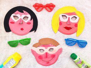Summer Paper Plate Masks
