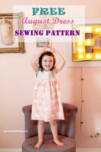 Free August Dress Sewing Pattern 2 – 9 yrs.
