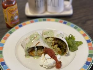 Homemade Grilled Breakfast Burrito