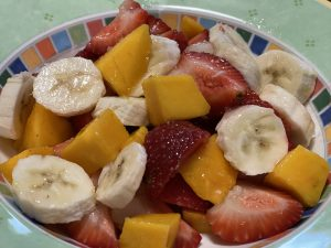 Tropical Strawberry Salad