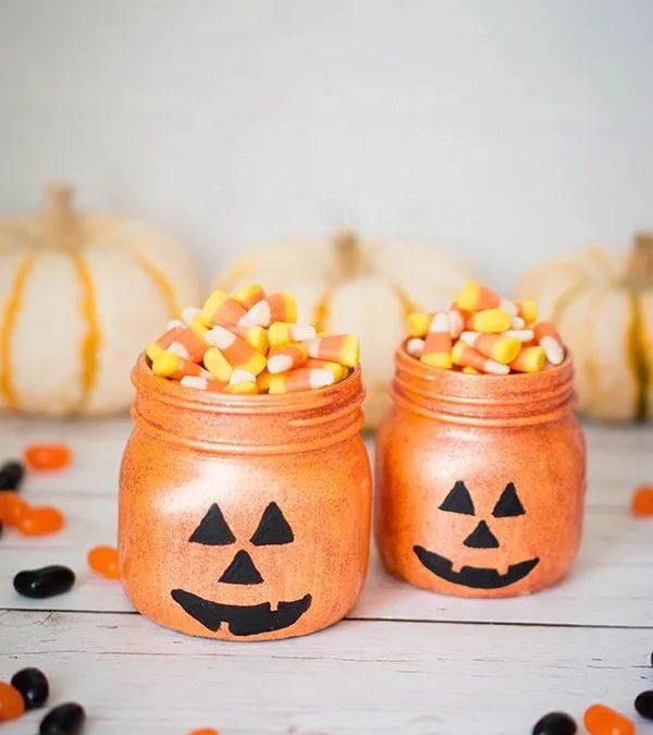 Sparkling Pumpkin Mason Jar