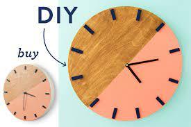 DIY Color block Wall Clock