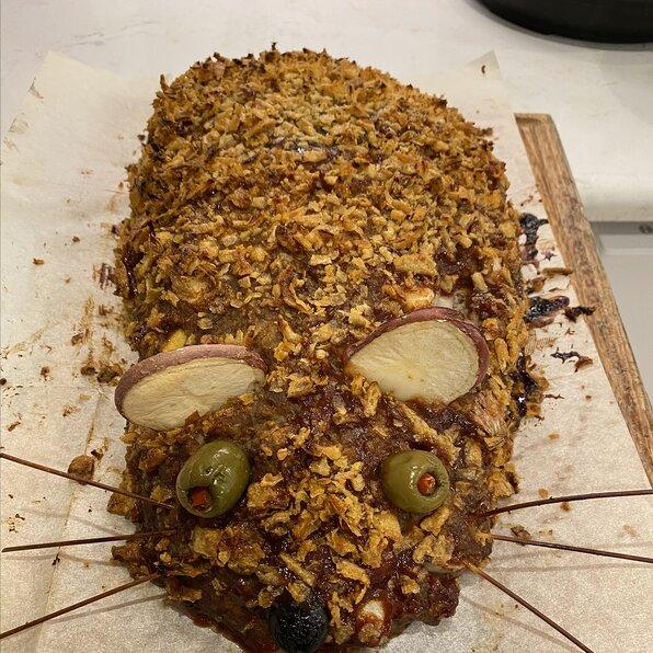 Ratloaf (Halloween Meatloaf)